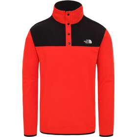 The North Face Tka Glacier Pull à encolure boutonnable Homme, fiery red/tnf black